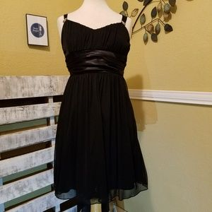 Trixxi Black Sheer Dress with Satin Ties Size 8